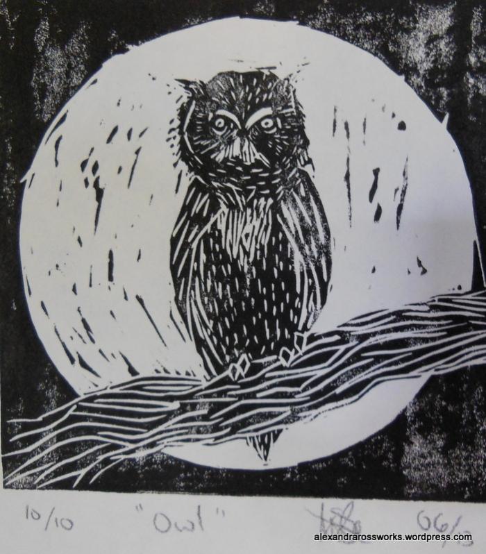 Owl Print Close