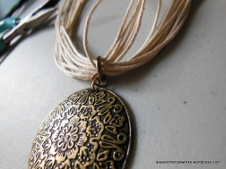 Finish up by attaching the pendant to the large circle finding on the necklace